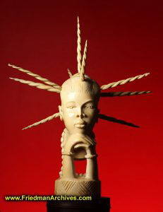 African Woman with spikes in head