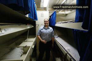 Female Sailor near Bunks