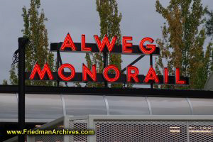 Alweg Monorail Sign