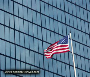 American-Flag-and-Glass-Building