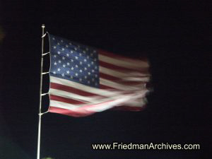 American Flag at Night