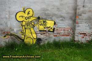 """Be Nice, Kids"" Graffiti"