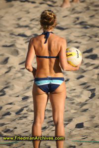 Beach Volleyball from Behind