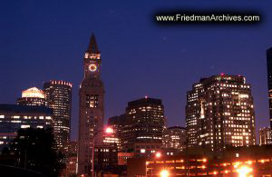 Boston Buildings at Night