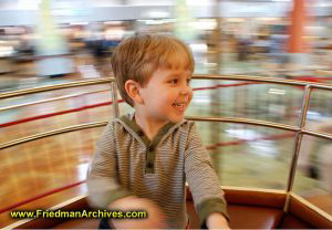 Boy Spinning in Teacup