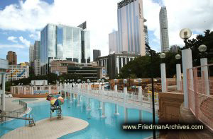 Buildings and Swimming Pool