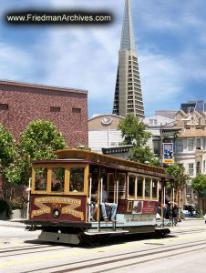 Cable Car and Transamerica Tower