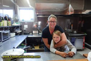 Cafe Owner and Daughter