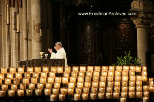 Church Service and Candles