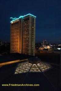 Citadel Building at night