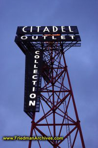 Citadel Outlets Sign