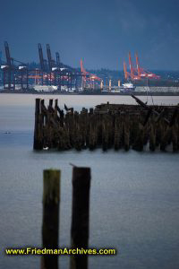 Cranes and Pier Remains