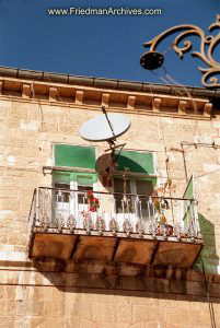 Dish Antenna on Balcony