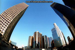Downtown LA fisheye