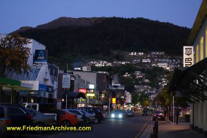 Downtown Queenstown at Dusk