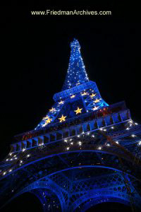 Eiffel Tower Blue
