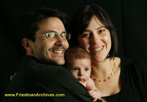 Family Portrait - Black Background