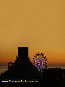 Ferris Wheel at Sunset (vertical)