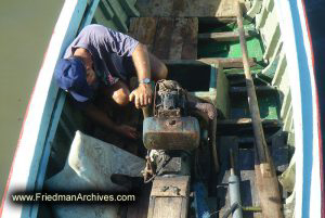Fixing Engine in Boat