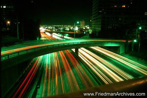 Freeway Lights at Night
