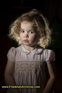 Girl Portrait Hair Light