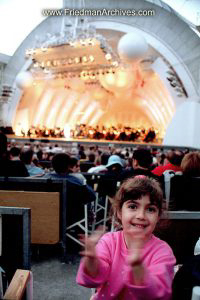 Girl at Hollywood Bowl