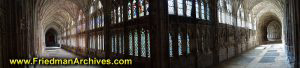 Gloucester Cathedral Hallway (Panorama)