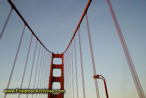 Golden Gate Bridge Support and Lamppost