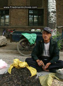 Grain seller on street