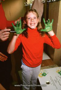 Green Hands Red Shirt