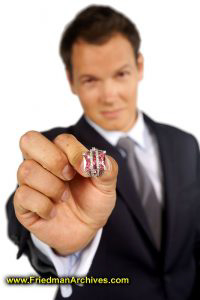 Groom Holding Ring