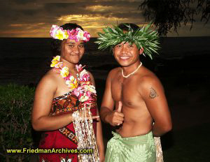 Hawaiian Luau Greeters