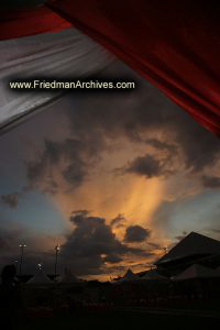 In the Tent at Sunset