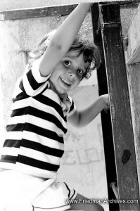 Kid on Ladder in Park
