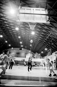 Kids and Sports Basketball Gymnasium (B and W)