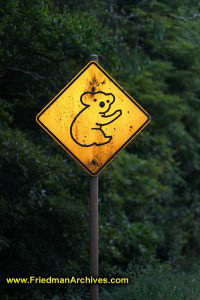 Koala Crossing Sign (Vertical)