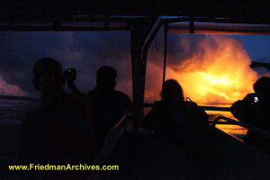 Lava Flow from Boat