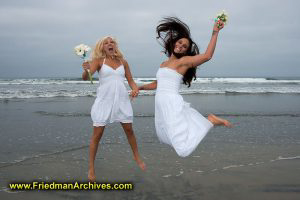 Leaping at the Beach