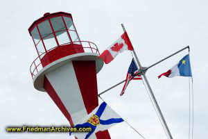 Lighthouse and Flags