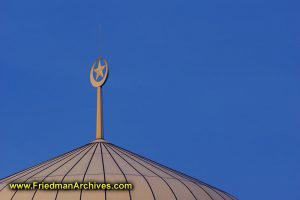 Mosque Roof Crescent Moon and Star