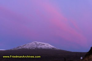 Mountain and Pink Sky