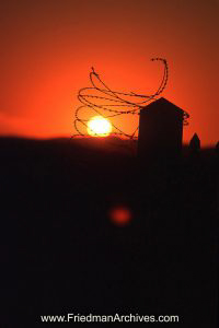 Namibia Images Barbed Wire Sunset