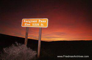 National Parks Emigrant Pass