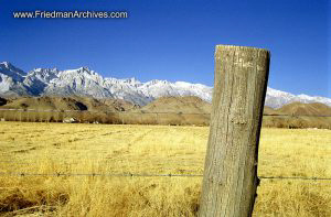 Fencepost and Mountains