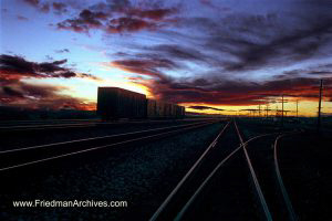 National Parks Railroad Sunset
