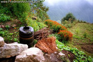 Nepal Images - Barrel and Flowers