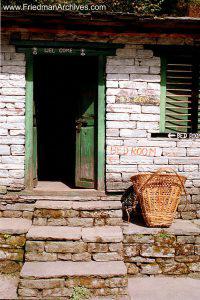 Nepal Images Basket and Door