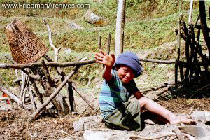 Nepal Images - Boy Waving