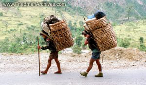 Nepal Images - Carrying Baskets