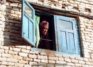 Nepal Images - Face in Window